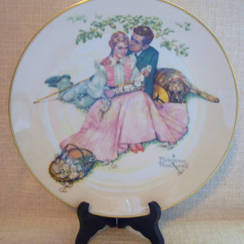 Vintage Norman Rockwell Collectible Plates - Four Ages of Love - 1973 - Set of Four - Decorative Plates, Wall Art