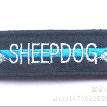 Sheepdog Embroidered pathes with Hook Fastener US army morale patch military  tactical  combat for coat vest Custom