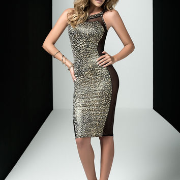 Leopard Print Dress Clubwear Dress