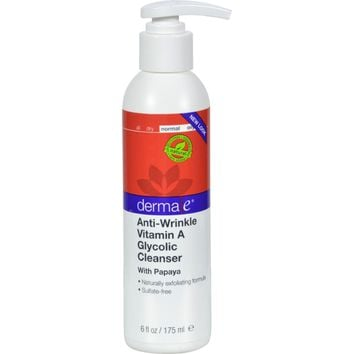 Derma E Vitamin A Glycolic Cleaners - 6 fl oz