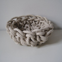 Crocheted Rope Bowl