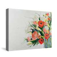 Easter Floral Canvas Wall Art