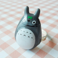 Cute Totoro ring - GRAY