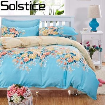 Solstice Home Textile 4pcs Bedding Sets Bed Sheet Cozy Bedding Set Bed Linen Duvet Cover Bed Sheet Pillowcase/bed Set 5 Size