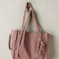 Tasseled Leather Tote by Miss Albright