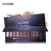 UCNABE 12 Color Nude Star Series Eye Shadow Palette Perfect Golden Sleek Smoky Eyeshadow Shimmer Matte Naked Palette Makeup Set