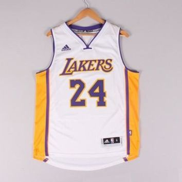 Kobe Bryant #24 Los Angeles Lakers Throwback Swingman Mens Basketball Jersey