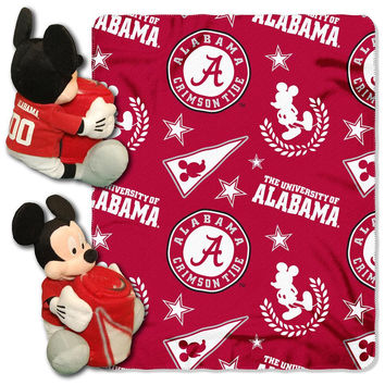 Alabama Crimson Tide NCAA Mickey Mouse with Throw Combo