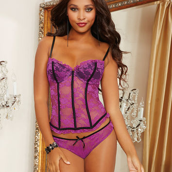Francesca Bustier and Ruffle Set