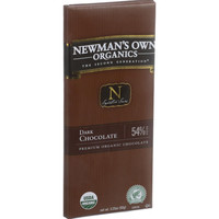 Newman's Own Organics Chocolate Bar - Organic - Dark Chocolate - 3.25 oz Bars - Case of 12