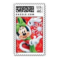 Minnie Holding Snowflake Stamp