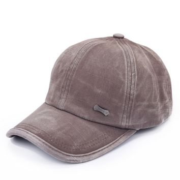 Solid Washed Denim Hip Hop Baseball Cap