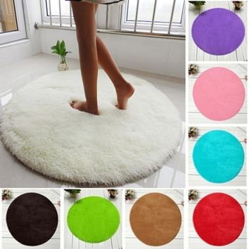 40cm*40cm Soft Bath Bedroom Floor Shower Round Mat Rug Non-slip