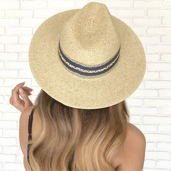 Crashing Waves Straw Beach Hat