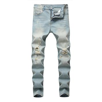 Ripped Holes Men Jeans [1574710411357]