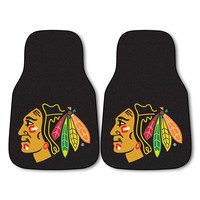 Chicago Blackhawks NHL 2-Piece Printed Carpet Car Mats (18x27)