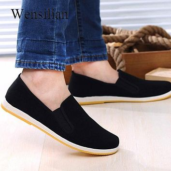 Loafers Men Canvas Shoes Man Sneakers Casual Shoes Slip on Flat Black Moccasin Trainers Sneakers Mocassin Homme Espadrilles