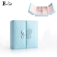 Creative bow Jewelry Box small PU Leather Casket Jewelry organizer for Travel Case Birthday Gift Ring Earrings Necklace Storage