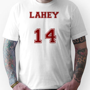 Isaac Lahey Jersey from Teen Wolf - Red Text Unisex T-Shirt