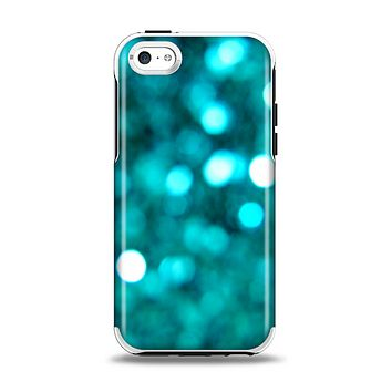 The Unfocused Subtle Blue Sparkle Apple iPhone 5c Otterbox Symmetry Case Skin Set