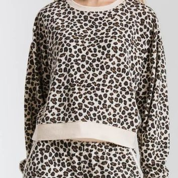 Z Supply - The Leopard Multi Pullover Top