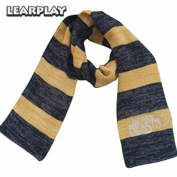10pcs/Lot Fantastic Beasts and Where to Find Them Newt Scamander Cosplay Scarf Women Men Scarfs Halloween Neckerchief