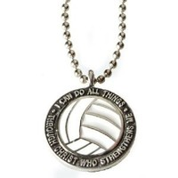 "Volleyball Necklace ""I Can Do All Things Through Christ"""