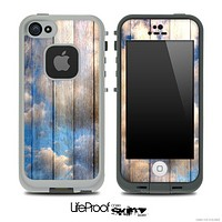Cloudy Wood Print Skin for the iPhone 5 or 4/4s LifeProof Case