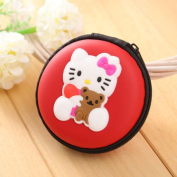 Brand New Hello Kitty Red Round Purse Coin Bag