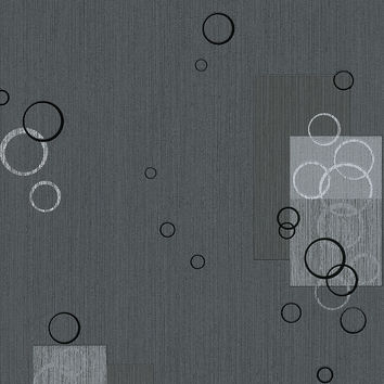 Spot Wallpaper in Black and Metallic design by BD Wall