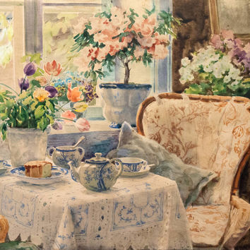 Olga AlexandrovnaThe Tea Table, Knudsminde Farm, circa 1935