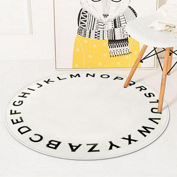 Autumn Fall welcome door mat doormat Solid Color Letter Round Pad Porch Bedroom  Bathroom Slip Wear Mat Kitchen Sill Anti-Slip Mat AT_76_7