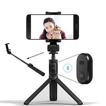 Foldable Tripod Monopod Selfie Stick Bluetooth With Wireless Button Shutter Selfie Stick For iOS/Android/Xiaomi
