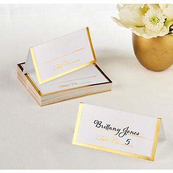 Golden Trim Place Cards 50 ct.