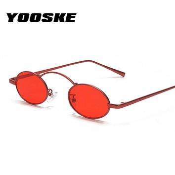 YOOSKE Small Round Sunglasses Men Women Metal frame Vintage Sun Glasses Fashion Brand Designer Male Female Eyewear Shades UV400