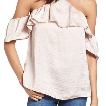 Ten Sixty Sherman Satin Cold Shoulder Top | Nordstrom