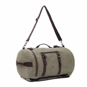 Large Canvas Bucket Backpack