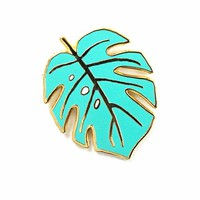 Monstera Leaf Artist Pin