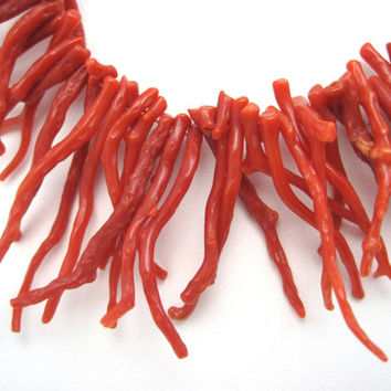 Vintage Branch Coral Necklace - Red Coral
