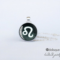 Leo sign pendant European Zodiac necklace the lion fire sign gift jewelry silver for him for her jewellery key ring