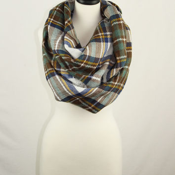 Mad Plaid Blanket Scarves by KnitPopShop