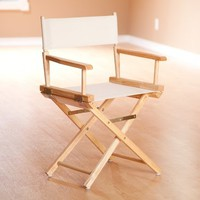 Yu Shan Director's Chair In Natural Frame with Natural Canvas