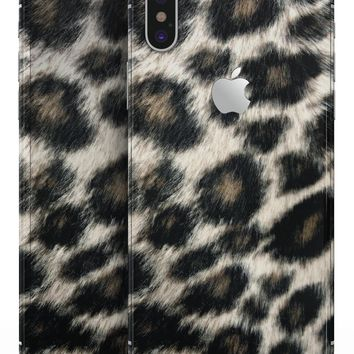Light Leopard Fur - iPhone X Skin-Kit