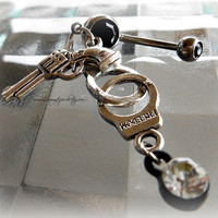 Gun Cuffs Belly Ring, Hipster, Ready to Ship, Direct checkout