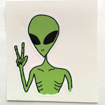 Vinyl Sticker #6.  Alien. Tumblr vinyl stickers, Vinyl Decal, Laptop Vinyl Stickers, Fun Stickers.