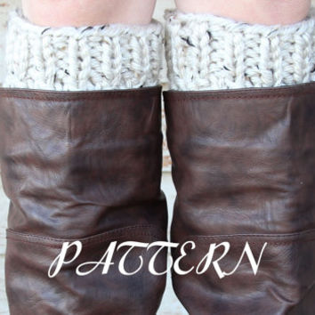 PDF PATTERN - Women's Boot Cuff Pattern - Thick & Chunky - Instant Download - RESPECT