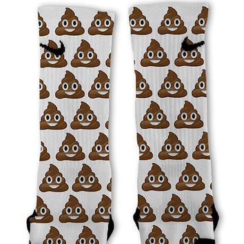 Poop Emoji Customized Nike Elite Socks!!
