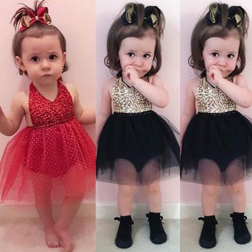 UK Flower Baby Girl Dress Formal Princess Pageant Wedding Birthday Ball Gown Sleeveless Party Dresses Baby Girls