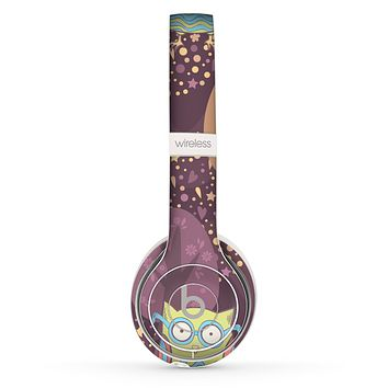 The Cartoon Curious Owls Skin Set for the Beats by Dre Solo 2 Wireless Headphones