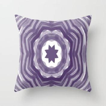 Kaleidoscope Star Throw Pillow by Colorful Art